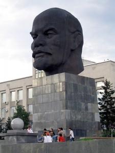 Η κεφαλή του Λένιν ένα από τα εκθέματα
