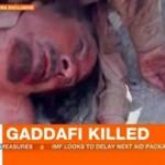 Νέα φωτογραφία του νεκρού Καντάφι από το Al Jazzera
