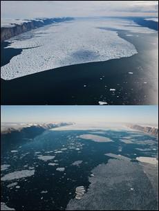 Γροιλανδία: Φωτογραφίες - σοκ από το λιώσιμο παγετώνα