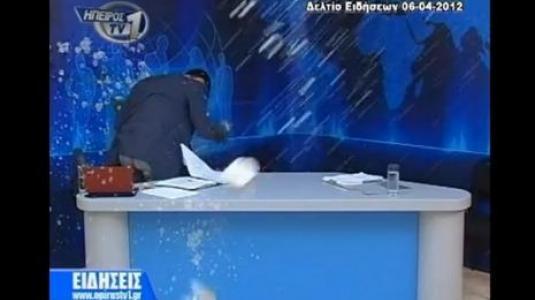 Εισβολή στο στούντιο του Ήπειρος TV