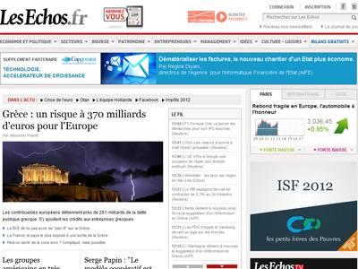 Les Echos: Ρίσκο 370 δις ευρώ η Ελλάδα για την Ευρώπη