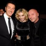 Η Madonna ανάμεσα στους φίλους της, σχεδιαστές μόδας, Domenico Dolce και Stefano Gabbana